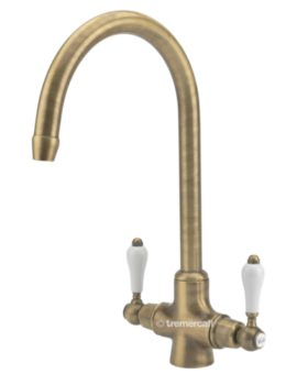Tre Mercati Little Venice 2 Lever Mono Kitchen Sink Mixer Tap - 287