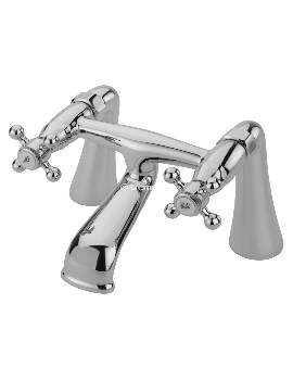 Victoria Pillar Bath Filler Tap Chrome