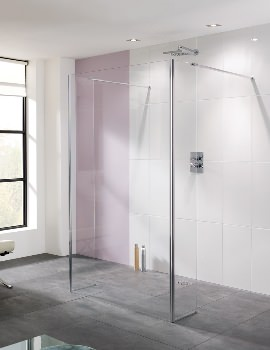 Coastline Riviera 1400mm Walk In Shower Panel And Bypass Panel