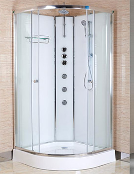 Lauren Opus 800 x 800mm Quadrant Polar White Shower Cabin