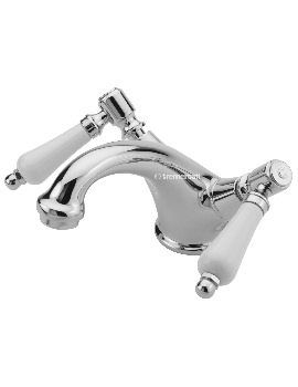 Victoria Bianco Mono Basin Mixer Tap With Click Clack Waste
