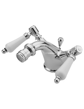 Tre Mercati Victoria Bianco Mono Bidet Mixer Tap With Pop-Up Waste - 1508