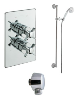 Imperial Concealed Thermostatic Valve With Slide Rail Kit And Wall Outlet