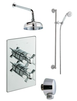 Traditional Concealed 2 Way Diverter Shower Valve With Shower Set