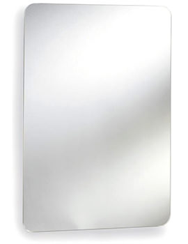Image 460mm Stainless Steel Mirrored Cabinet With Hinged Door