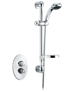 Roma Thermostatic Shower Valve With Sliding Rail Kit