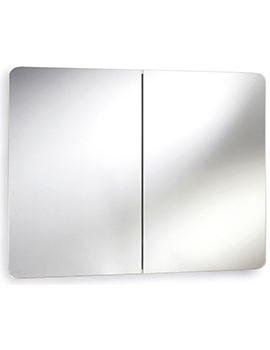 Mimic 800mm Stainless Steel Double Mirrored Cabinet With Hinged Door