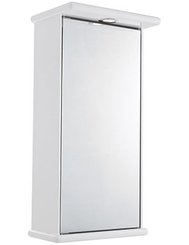 Niche 400mm Single Door Mirrored Cabinet With Light