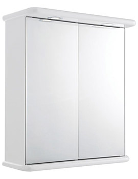 Niche 620mm Double Door Mirrored Cabinet With Light