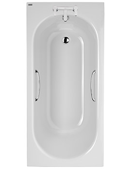 Opal 1500 x 700mm Plain 2 Tap Hole Acrylic Bath With Grips