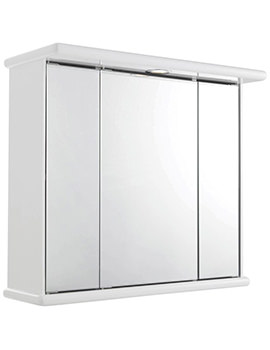 Cryptic 700mm Triple Door Mirrored Cabinet With Light