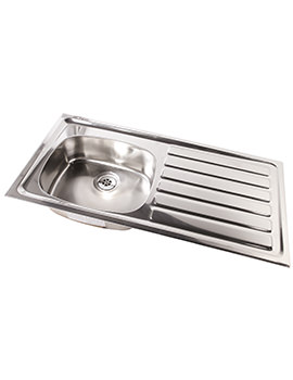 SS Stainless Steel 1028 x 500mm No Tap Hole Inset Sink And Drainer