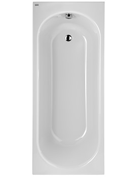 Opal 1700 x 700mm Plain No Tap Hole Acrylic Bath