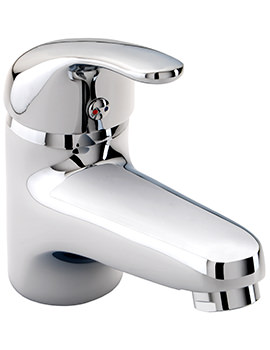 X52 Low Flow Mono Basin Mixer Tap With Click Clack Waste