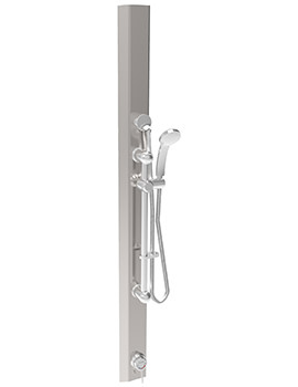 Sola Stainless Steel Thermostatic Shower Panel With Kit