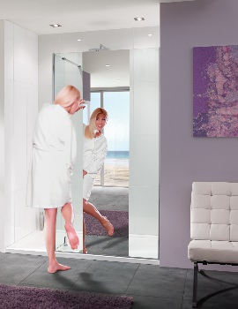 Lakes Mirror Glass Palma Walk-In Shower Panel 1200mm