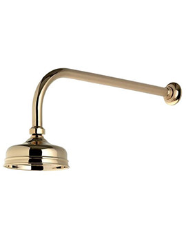 Aquatique Gold 5 Inch Drencher Fixed Head And Wall Arm