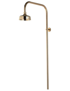 Aquatique Gold Exposed 5Inch Drencher Fixed Head