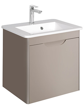 Solo 500mm Single Drawer Wall Hung Basin Unit Matte Coffee