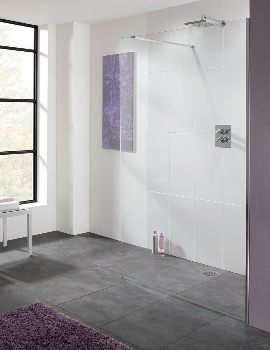 Lakes Coastline Cannes 10mm Walk In Shower Screen 700mm - More Sizes Available