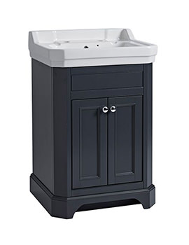Tavistock Vitoria 600mm Freestanding Basin Unit Matt Dark Grey