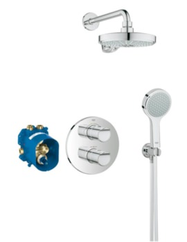 Grohtherm 2000 New Chrome Concealed Thermostatic Shower Set