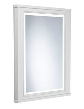 Vitoria 556 x 790mm Framed Illuminated Mirror Linen White