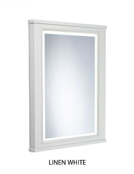 Lansdown 556 x 790mm Framed Illuminated Mirror With Linen White Frame