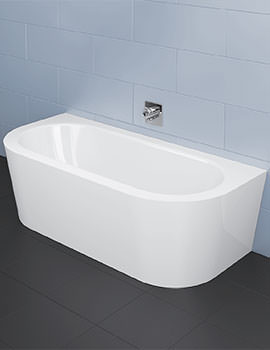 Starlet I Silhouette 1850 x 850mm Super Steel Bath With Panel