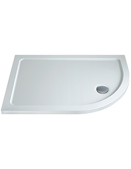 Twyford 900 x 800mm Flat Top Offset Right Hand Quadrant Shower Tray