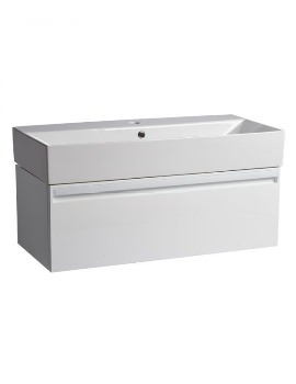 Tavistock Forum Gloss White 900mm Wall Mounted Unit With Basin