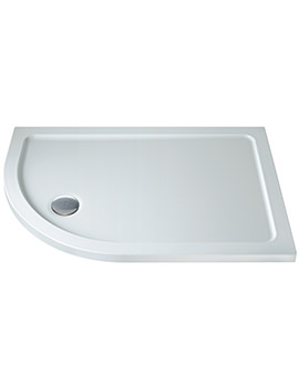 Twyford 1000 x 800mm Flat Top Offset Left Hand Quadrant Shower Tray