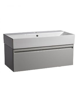 Tavistock Forum Gloss Light Grey 900mm Wall Mounted Unit With Basin