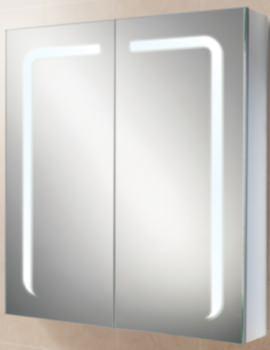 Stratus 60 LED Demisting Aluminium Mirror Cabinet 600 x 700mm