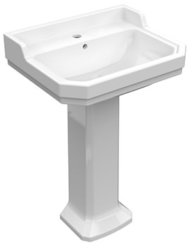 Pura Imex Wyndham 580mm Wide Basin And Full Pedestal