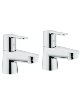 BauEdge Half Inch Pair Of Basin Taps