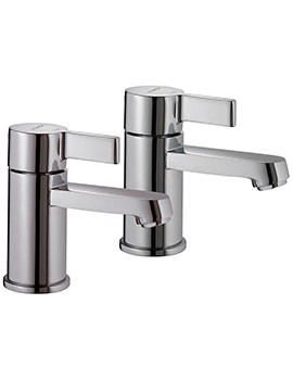Aquamixa Aquataps Pair Of Bain Pillar Taps
