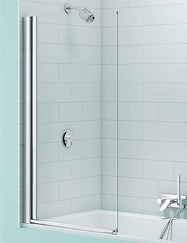 SecureSeal Single Panel Bath Screen 800 x 1500mm