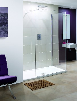 Lakes Coastline Marseilles 850mm Walk In Shower Screen