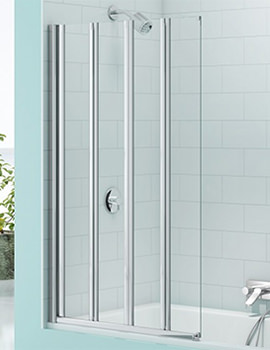 SecureSeal 4 Fold Bath Screen 800 x 1500mm