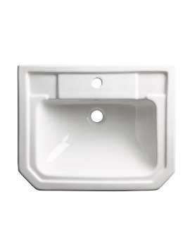 Tavistock Vitoria 550mm Semi-Countertop Basin With 1 Tap Hole
