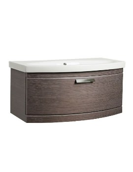 Tavistock Tempo Dark Java 900mm Wall Mounted Unit With Basin