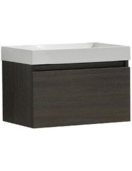 Lauren Zone 600mm Wall Hung Drawer Cabinet And Basin