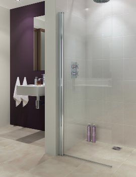 Lakes Coastline Alassio 1000mm Hinged Walk-In Shower Screen