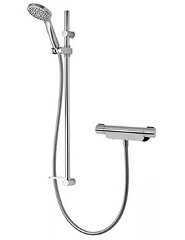 Aqualisa Midas 220 Thermostatic Bar Mixer Shower With Adjustable Head