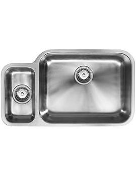 1810 Company Etroduo 781-450U BBR 1.5 Bowl Undermount Sink - Right Hand Big Bowl