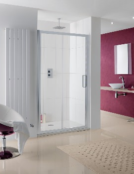 Lakes Coastline Talsi Sliding Shower Door 1100mm