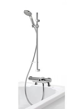 Aqualisa Midas 220 Thermostatic Bath Shower Mixer Tap With Slide Rail Kit