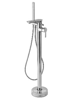 Balena Floor Mounted Bath Shower Mixer Tap With Kit