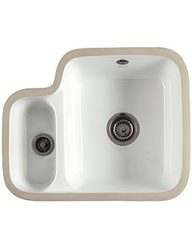 1810 Company Etroduo 343-136UC 1.5 Bowl Undermount Ceramic Sink
